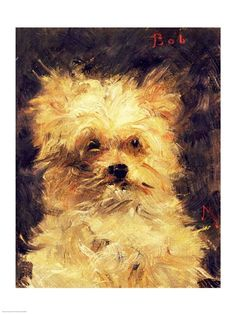"Head of a Dog - ""Bob"" by Edouard Manet"