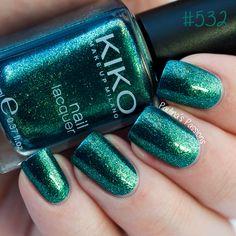 Random KIKO Nail Polish Swatches – #532 #295 #340