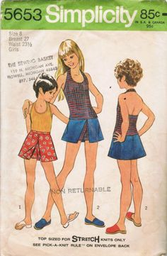 1970s Simplicity 5653 Vintage Sewing Pattern by midvalecottage
