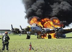 She brought them home - RIP Liberty Belle - Just heart-wrenching to see a rare historical aircraft destroyed