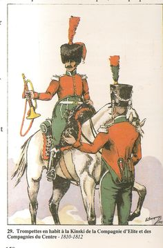 French; 1st Chasseurs a Cheval,Elite & Centre Companies, Trumpeters in Habit a la Kinski, 1810-12