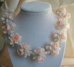 Vintage Hong Kong Soft Plastic Flower Necklace by JBPacrat on Etsy, $18.00