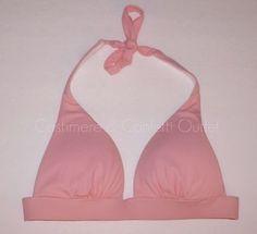 Victoria's Secret Beach Sexy Push Up Halter BIKINI TOP Starlite Pink AF5 XS 104