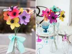 Make Pretty Paper Flowers in Under 10 Minutes via Brit + Co.