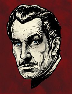 Vincent Price - master of subtle Horror Horror Posters, Horror Films, Films Cinema, And So It Begins, Season Of The Witch, Famous Monsters, Celebrity Caricatures, Vintage Horror, Vincent Price