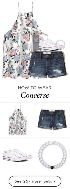 """""""Untitled #2628"""" by laurenatria11 on Polyvore featuring Hollister Co., Converse, Lokai and adidas"""