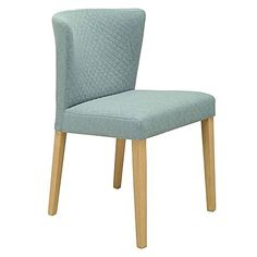 Spirited with colour in its quilted upholstery, the Rianne Aquamarine Dining Chair (Set of 2) from Iniko instils contemporary class in your space.