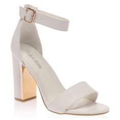 Alana White Block Heeled Sandal
