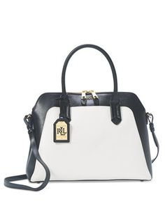 802c469f97 Lauren Ralph Lauren Tate Color Block Dome Satchel. Black Shoulder Bag ...