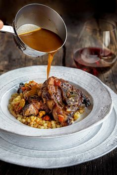 Braised Lamb Neck with Fregola Sarda