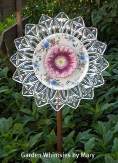 Plate flower garden whimsy