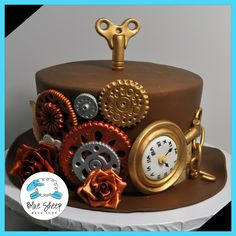 Browse our gallery of baby shower cakes for inspiration or contact us to design a cake for your special event. Baby shower cakes can take their inspiratio Pretty Cakes, Beautiful Cakes, Amazing Cakes, Fondant Cakes, Cupcake Cakes, Cupcakes, Steampunk Hut, Steampunk Wedding Cake, New Year's Cake