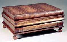 Coffee Table That Looks Like A Stack Of Leatherbound Books - Coffee table that looks like books