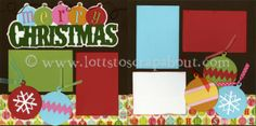 Merry Christmas Scrapbook Page Kit