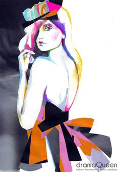 dramaQueen fashion illustration by Fanny Csefalvay