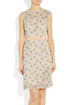 Moschino Cheap and Chic | Floral macramé sheath dress | NET-A-PORTER.COM