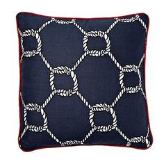 I pinned this Nautical Rope Pillow in Navy from the Room Service event at Joss and Main!