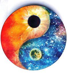 Yin-yang by Chirila Corina Arte Yin Yang, Ying Y Yang, Yin Yang Art, Ying Yang Wallpaper, Foto Logo, Yin Yang Designs, Yin Yang Tattoos, Ninja Art, Flame Art