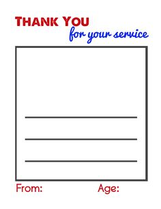 Thank a Military Member Letter - do this for veteran's day or memorial day? Good Oct, Nov, May activity.