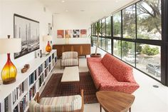 You won't need a reading lamp in this San Diego library - the natural light just floods right in from these gorgeous windows.