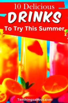 Refreshing and delicious drinks everyone can enjoy this summer! Refreshing and delicious drinks everyone can enjoy this summer! Alcoholic Drinks To Try, Drinks Alcohol Recipes, Fun Drinks, Yummy Drinks, Alcoholic Punch, Beverages, Easy Mocktail Recipes, Summer Drink Recipes, Peach Daiquiri