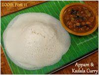 Appam and Kadala Curry