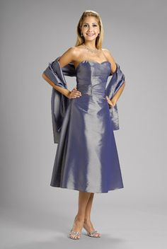 2015 Sleeveless Sweetheart Shawl Satin Ruched Knee Length A-line Mother of the…