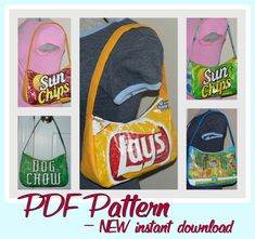 Chip Zip Purse sewing pattern PDF instant download DIY