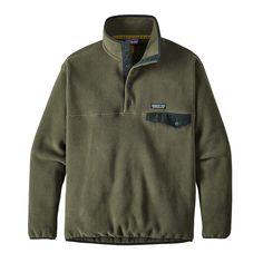 Patagonia Men's Synchilla Snap-T Fleece Pullover Industrial Green XXL Patagonia Synchilla, Patagonia Fleece, Adventure Style, Easy Wear, Pullover, Casual, Clothes, Industrial, Moda Masculina