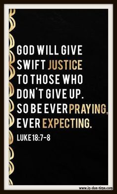Don't stop praying and don't lose hope!