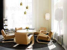 Alvar Aalto Furniture by Artek Alvar Aalto, Scandinavian Home, Contemporary Furniture, Interior Design Living Room, Floor Chair, Furniture Design, Home Decor, Pendant Lamp, Pendant Lights