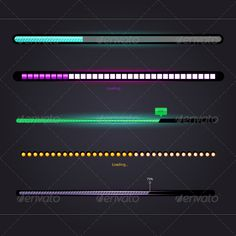 #Loading Bars - #Web #Elements #Vectors Download here:  https://graphicriver.net/item/loading-bars/7479853?ref=alena994