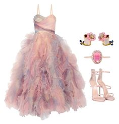 """Cotton candy  *** (ms)"" by ale-pink5 ❤ liked on Polyvore featuring Marchesa, Giuseppe Zanotti, Marlo Laz and Les Néréides"