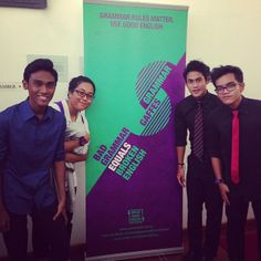Our ITE students are our guests at the 2014 launch of the Speak Good English Movement #grammarrules