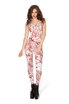 Blood Splatter Catsuit (48HR) by Black Milk Clothing