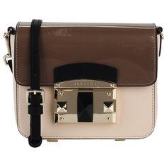 504042accbb2 Стильная сумка через плечо из натуральной кожи двух видов: глянцевой и  гладкой.