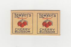 First version box of the classic Lowney's Cherry Blosson, ca. 1925.