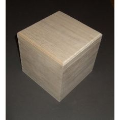 Solid Plain Wooden Cube Square Shape Box New Style