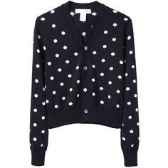 Comme des Garçons Shirt Dot Cardigan ($780) via Polyvore