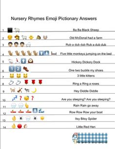 On this page I am sharing Free Printable Nursery Rhymes Emoji Pictionary Quiz in three different colors. Emoji Quiz, Emoji Games, Baby Shower Giraffe, Baby Shower Fun, Guessing Games For Kids, Free Nursery Rhymes, Emoji Puzzle, Text Games, Free Emoji
