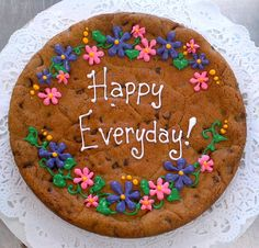 Delicious hand-decorated sugar cookies, cakes, sweets, gift baskets and other treats such as brownies and fudge for special occasions. Chocolate Giant Cupcake, Giant Cookie Cake, Cookie Cake Birthday, Chocolate Chip Cookie Cake, Big Cookie, Cookie Frosting, Cookie Cakes, Cupcake Cookies, Giant Cookies