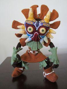 Crochet Skull Kid from the Legend of Zelda video game series