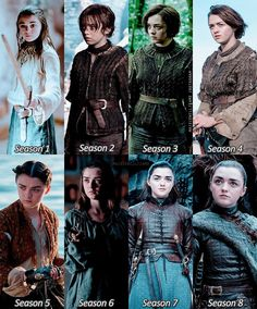 """Arya Stark (Maisie Williams) throughout the years on """"Game of Thrones"""" Maisie Williams, Game Of Thrones Witze, Game Of Thrones Funny, Game Of Throne Poster, Game Of Throne Actors, Arya Stark, The North Remembers, Jennifer Lawrence, Funny Videos"""