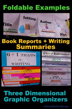 foldable ideas for writing notebooks - great for kinesthetic students
