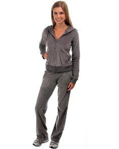 2 Women's Pieces Velour Sweat Suit Ve... $19.99