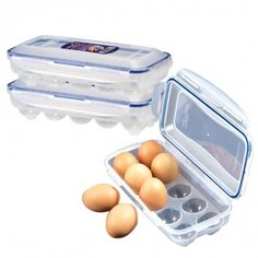 Lock & Lock Egg Dispenser 3-Piece Set (10 Count)