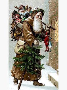 Vintage Christmas Images, Christmas Scenes, Antique Christmas, Christmas Past, Father Christmas, Vintage Holiday, Christmas Pictures, Christmas Greetings, Winter Christmas