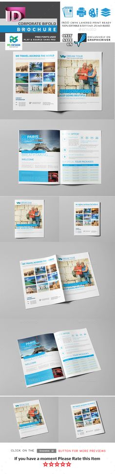 Cruise Travel Brochure Illustrator Template by @StockLayouts - booklet template free download
