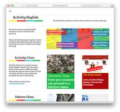 Activity English is a resource site with alternative ideas for teaching English. The materials are designed by a group of teachers in Korea. You can use these projects and lessons to complement your course books. You'll find downloadable debate lessons that will get your students talking. Some of the topic-based activity lessons include videos that …