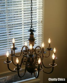 Painted Chandelier - i need to paint my DR chandelier!
